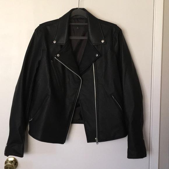 675a24e23 Uniqlo faux leather jacket